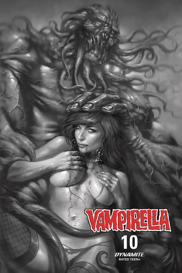 Vampirella (2019) #10 10 COPY PARRILLO B&W INCV