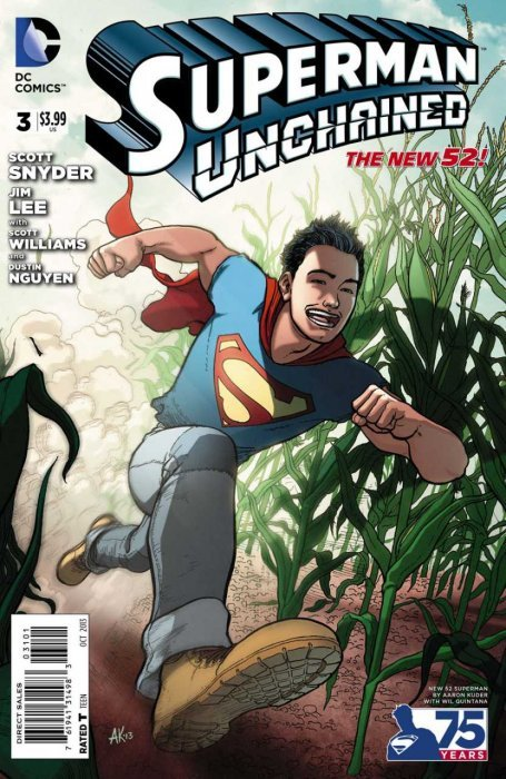 Superman Unchained (2013) #3 (1:25 75th Anniv Variant Modern Age)