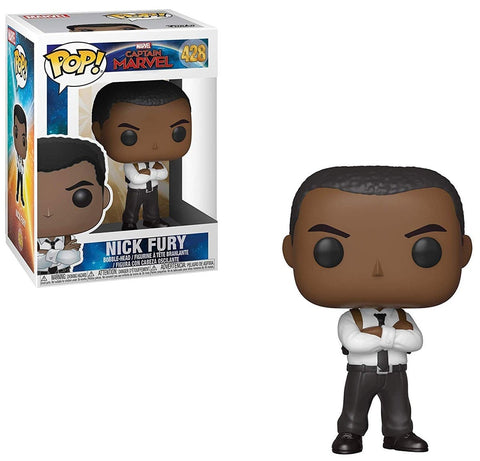 Pop Captain Marvel Nick Fury Vinyl Figure