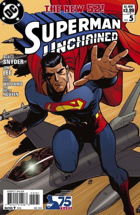 Superman Unchained (2013) #5 (1:25 75th Anniv Variant Modern Age)