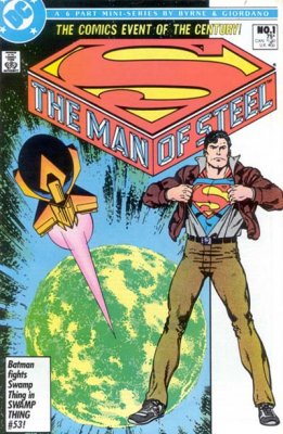 Man of Steel (1986) #1 (newstand edition, Byrne)