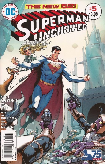 Superman Unchained (2013) #5 (1:50 75th Anniversary Variant Bronze Age)