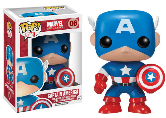 Pop Marvel Heroes Captain America Vinyl Figure