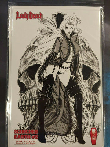 Lady Death Scorched Earth (2020) #2 Raw Edition - Limited to 400 Copies