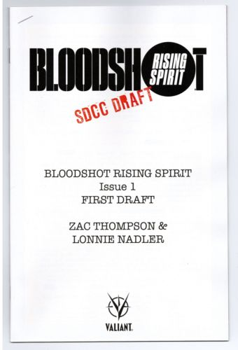 Bloodshot Rising Spirit (2018) #1 (SDCC First Draft)
