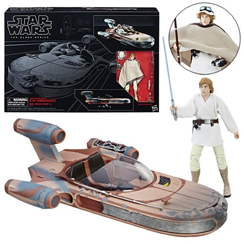 Star Wars 6-Inch Black Series Luke With Landspeeder