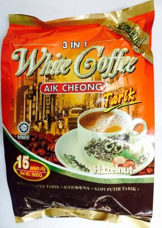 益昌 3IN1白咖啡 榛果(15小包*40克)AIK CHEONG WHITE COFFEE HAZELNUT