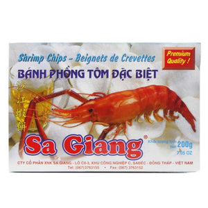 沙江虾饼 Sa Giang Shrimp chips 200g 7.05oz