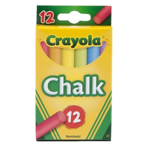 Crayola Chalk Assorted Colours 12 Pack