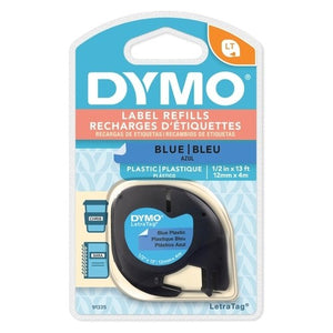 DYMO LetraTag Plastic Ultra Blue Label Tape 12mm x 4m