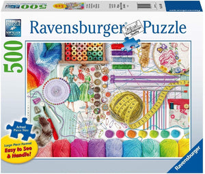 Ravensburger - Needlework Station Large Format Puzzle 500pc