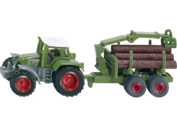 Siku - Fendt Tractor with Forestry Trailer