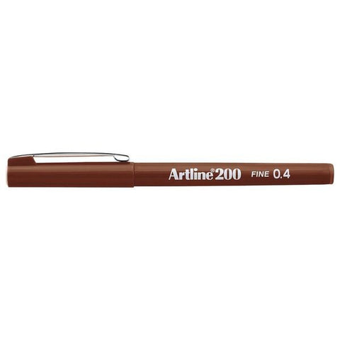 Artline 200 0.4mm Fineliner Brown