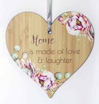 Bunch of Joy Hanging Heart Plaque Home