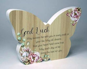 Bunch of Joy Butterfly Plaque - Good Luck