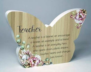 Bunch of Joy Butterfly Plaque - Teacher