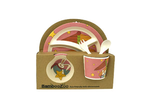 Bamboozoo Kids Dinnerware Star Rabbit