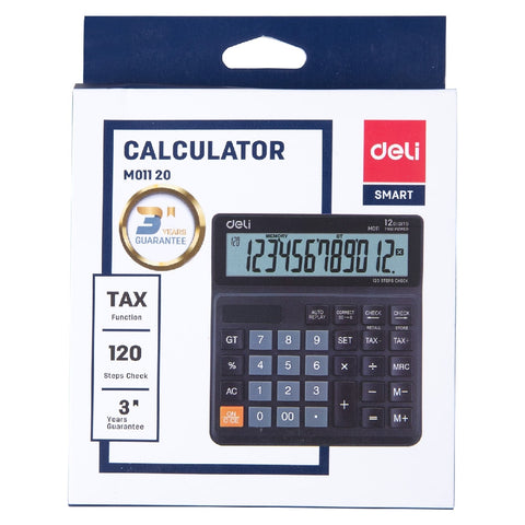 Calculator Deli M01120 Tax Desk 12 Digit
