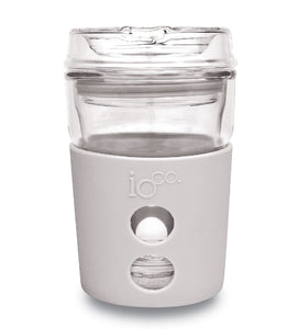IOco 8oz ALL GLASS Coffee Traveller - Warm Latte