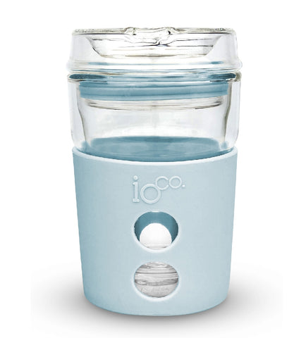 IOco 4oz Piccolo ALL GLASS Coffee Traveller - Ocean