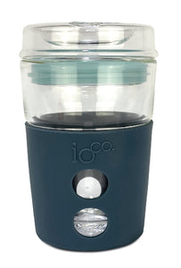 IOco 4oz Piccolo ALL GLASS Coffee Traveller - Midnight Blue | Ocean Blue Seal