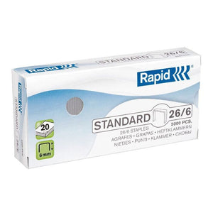 Rapid 26/6 Staples 5000 Pack