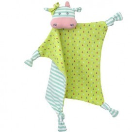 Organic Farm Buddies - Belle The Cow Organic Blankie