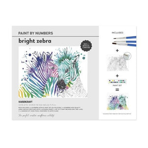 Paint By Numbers - Bright Zebra