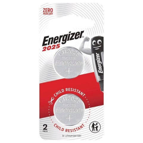 Energizer 2025 Lithium Coin Batteries 2 Pack