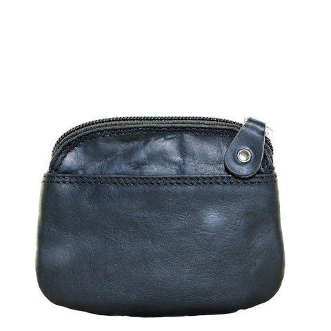 Mens Leather Coin Purse Black