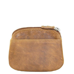 Mens Leather Coin Purse Tan