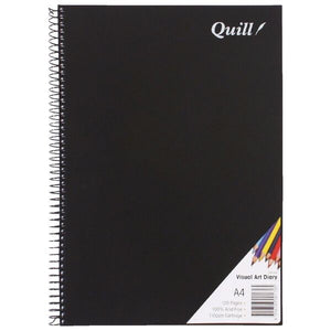 Quill A4 Visual Art Diary 110gsm Black