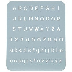 Stencil radiant 13mm Lettering Guide