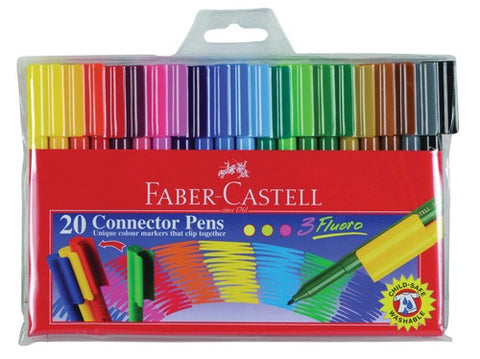 Marker Faber-Castell Connector Pens Pack 20