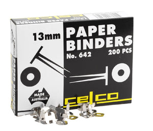 Paper Binders 13mm 200 Pack