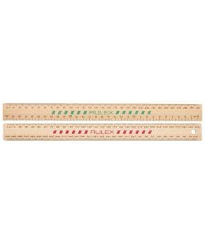 Ruler Wooden 30cm Rulex