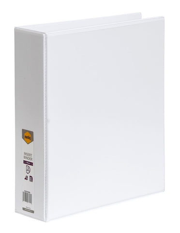Binder Insert Marbig A4 Clearview 2 D-Ring 50mm White