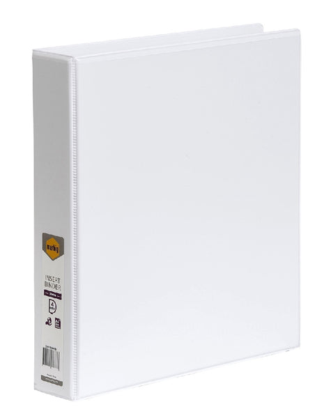 Binder Insert Marbig A4 Clearview 2 D-Ring 38mm White