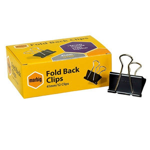 Foldback Clips 41mm 12 Pack