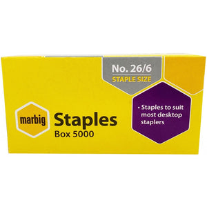 Staples 26/6 Pack 5000 Marbig