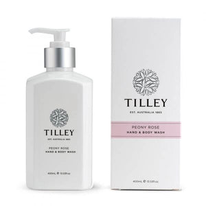 TILLEY BODY WASH 400ML PEONY ROSE