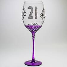 CLEAR WINE GLASS 21