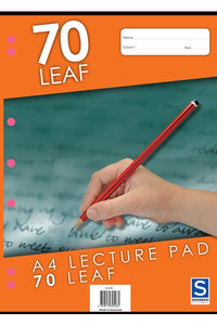 Lecture Pad A4 7mm Ruled 70 Leaf