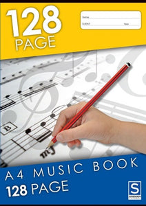 Music Exercise Book A4 128 Page