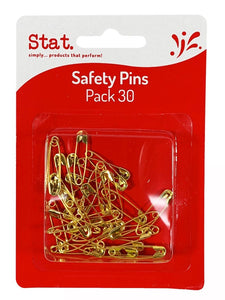 Safety Pins Gold Pack 30