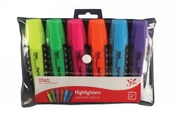 Highlighters Assorted Colours Wallet 6