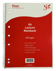 Notebook Lecture A4 140 Pages