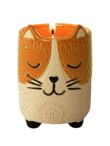 Candle - Cat Soy Orange & Sand 9cm
