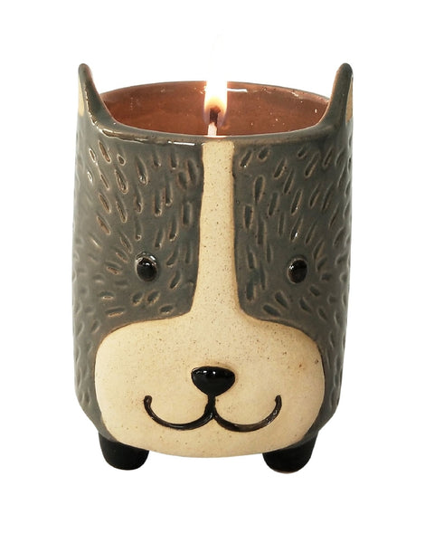 Candle - Dog Soy Grey & Sand 9cm