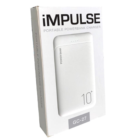 Impulse Portable Powerbank Charger White